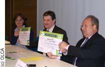 Signature de la charte JA par l'INA et Alsace 20
