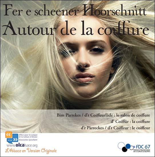 Dépliant coiffure français-alsacien