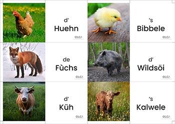 memory des animaux en alsacien