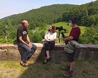 tournage A coté de la plaque en pays welche