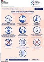 affiche des gestes barrières en alsacien
