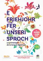 affiche e Friehjohr fer unseri Sproch 2018
