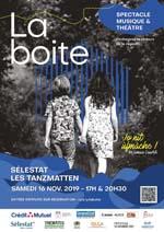 affiche spectacle La Boite