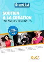appel à projets soutien à la création en langues régionales 2018