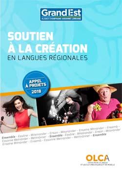 appel à projets langues régionales 2018