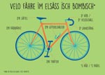 carte postale du vélo en alsacien