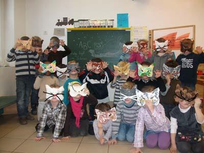 Masques par la maternelle ABCM de Haguenau
