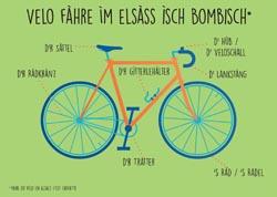 carte postale du vélo