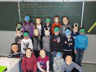 Masques par la maternelle de Dalhunden