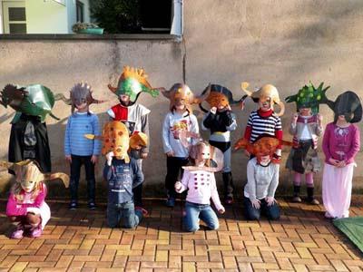 Masques par la maternelle de Hindisheim