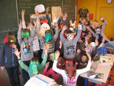 Masques par CM2 Quartier Ouest Sélestat