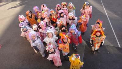 Masques par la maternelle de Wolxheim