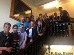 Des collégiens chez France Bleu Elsass
