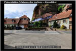 Visite virtuelle des maisons des rochers de Graufthal