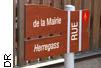 plaque de rue  bilingue à Gambsheim