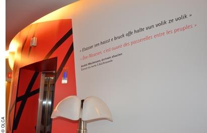 citation en alsacien à la Maison de l'Alsace à Paris
