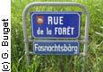 Plaque de rue bilingue à Kappelen