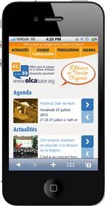 Site mobile de l'OLCA