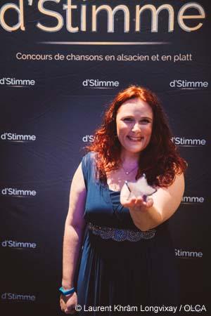 Cynthia Colombo, gagnante du concours d'Stimme 2021 - photo LKL